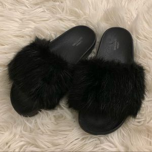 UO Furry Slides